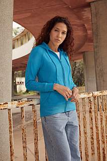 Hanorac Lady Fit Lightweight Hooded Sweat Jacket