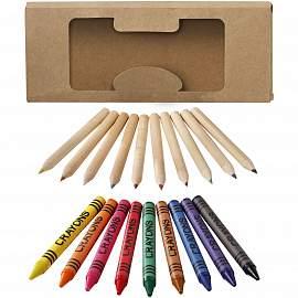 19 piece pencil and crayon set