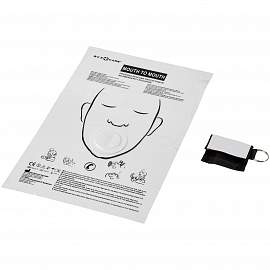 Henrik mouth-to-mouth shield in polyester pouch