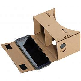 Virtual Reality glasses made of cardboard