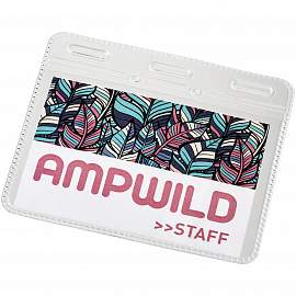 Arell clear plastic ID pouch