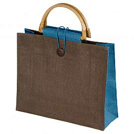 Jute bag with bamboo grip