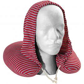 Striped Neck pillow with hood