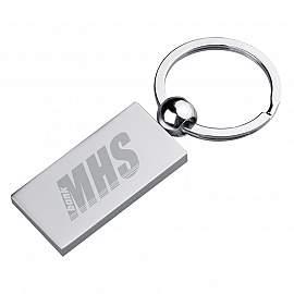 Metal keyring, rectangular