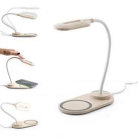 OZZEL. Table lamp with wireless charger (Fast, 10W)