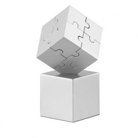 Puzzle 3D din metal