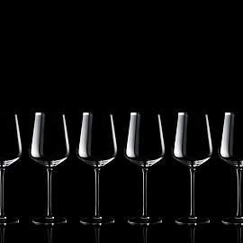 Set of 6 red wine glasses