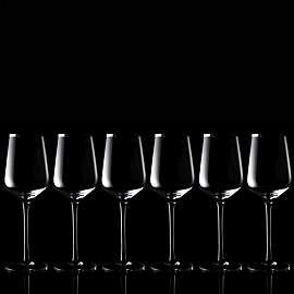 Set of 6 white wine glasses