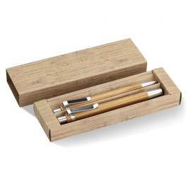 Set din pix si creion bambus