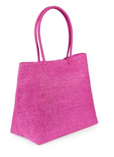 Nirfe, Zipped, synthetic shopping bag with medium long handle