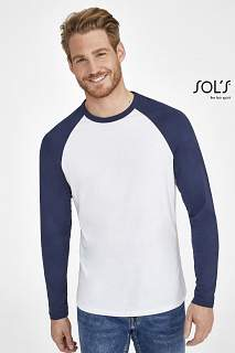 FUNKY LSL White / Royal blue XXL