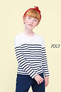 MATELOT LSL KIDS FRENCH NAVY/WHITE