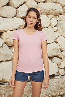 Tricou Lady Fit Valueweight V Neck T