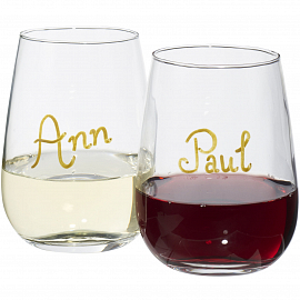 Barola wine glass writing set