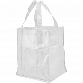 Savoy slash pocket laminated non-woven tote bag