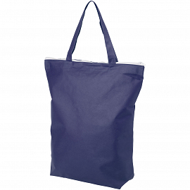 Privy zippered short handle non-woven tote bag