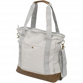 Harper zippered cotton canvas tote bag