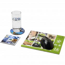 Q-Mat� mouse mat and coaster set combo 1