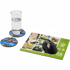 Q-Mat� mouse mat and coaster set combo 2