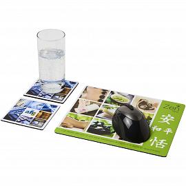 Q-Mat� mouse mat and coaster set combo 3