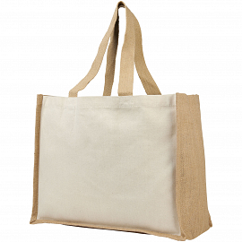 Varai 340 g/m� canvas and jute shopping tote bag