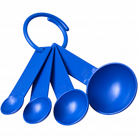 Ness plastic measuring spoon set with 4 sizes