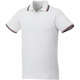 Fairfield short sleeve men's polo with tipping