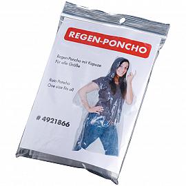 Rain poncho in plastic cover
