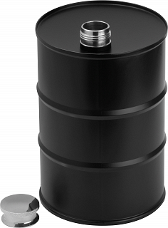 Hip flask barrel