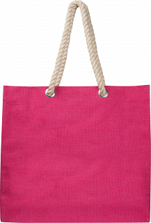 Jute bag with drawstring