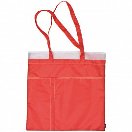 Shopping bag with decorative stitching