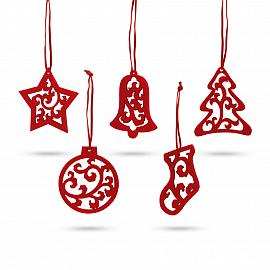 JUBANY. Set of 5 Christmas decorations
