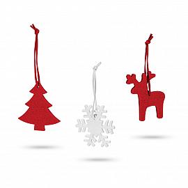 ZERMATT. Set of 3 Christmas decorations
