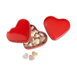 Cutie forma inima cu bomoboane