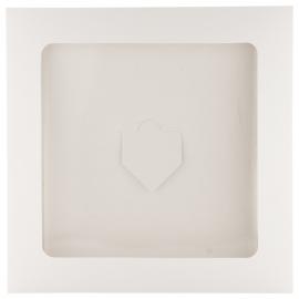 plic din carton pentru esarfa, culoare alb, Ruiz