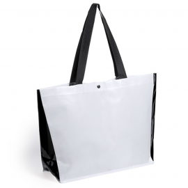 Magil, Laminated non-woven/PVC shopping bag with colorued sides and handles