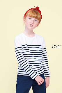 MATELOT LSL KIDS FRENCH NAVY/WHITE